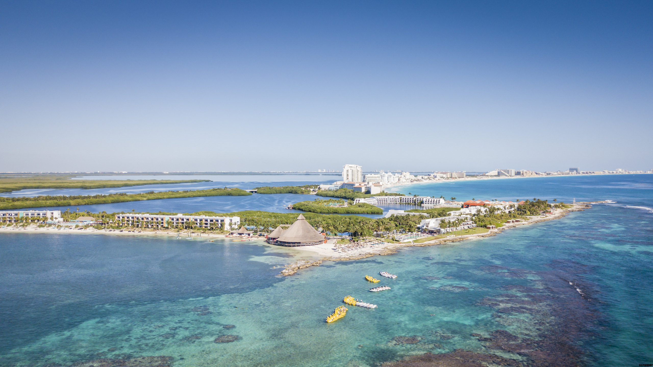 Club Med Cancun - aerial