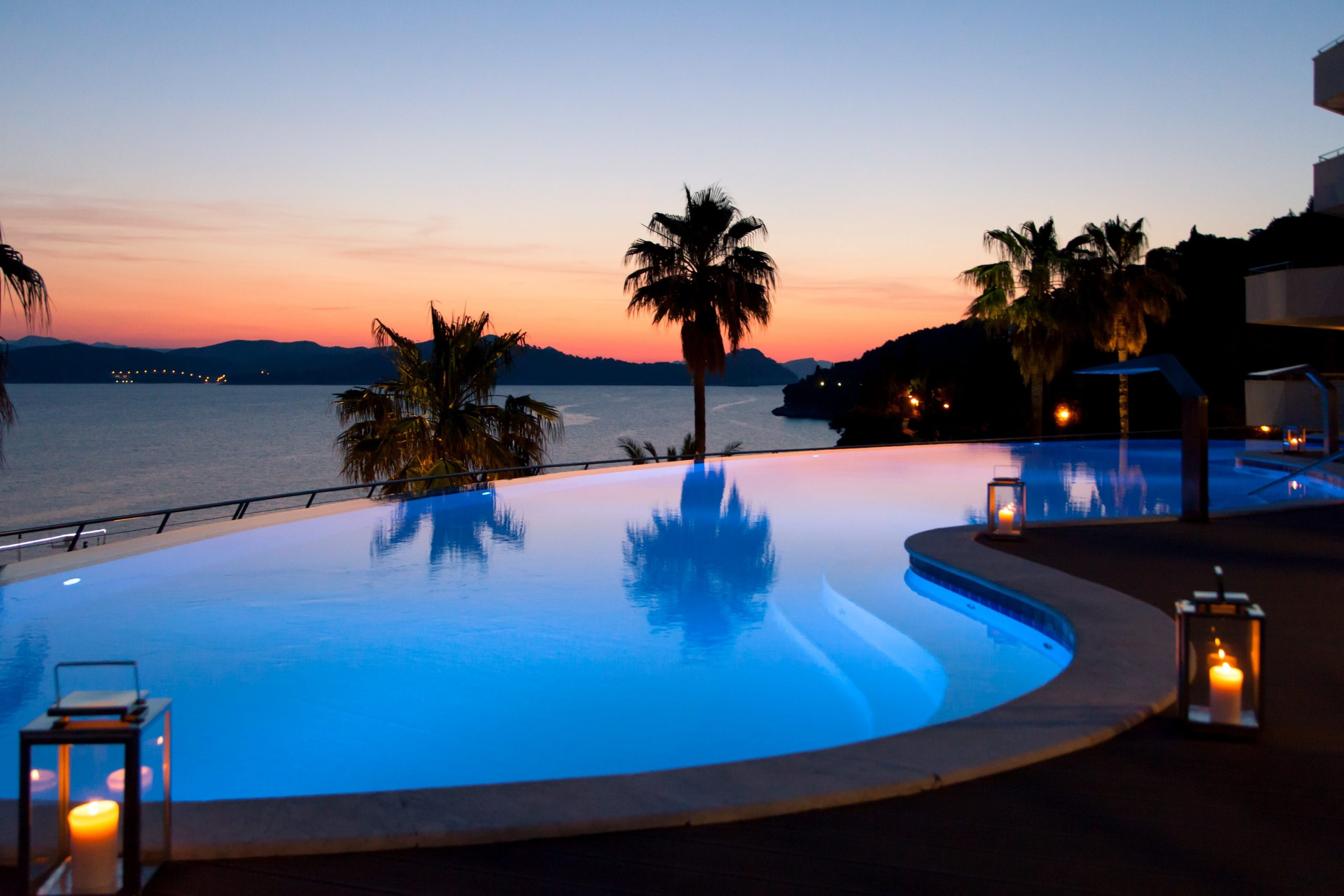 Dalmatia Event Island Resort_Pool at night