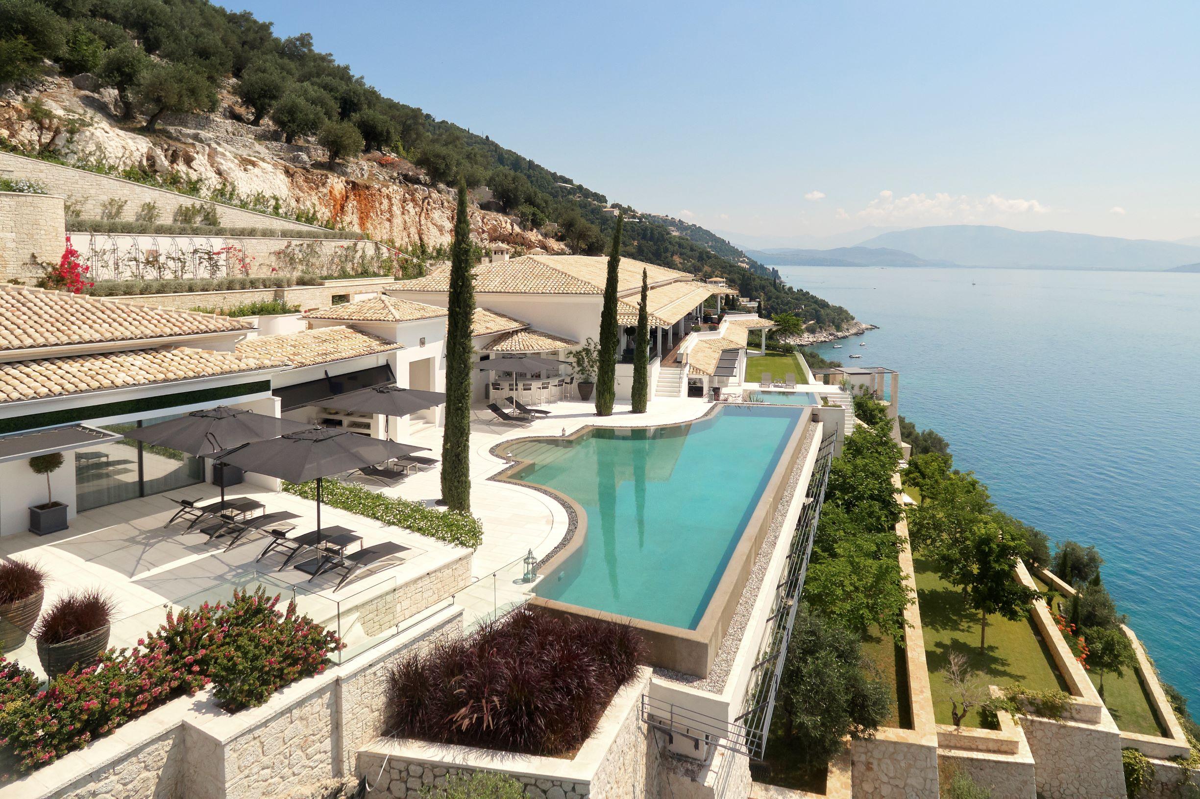 Event Villa Corfu - aerial