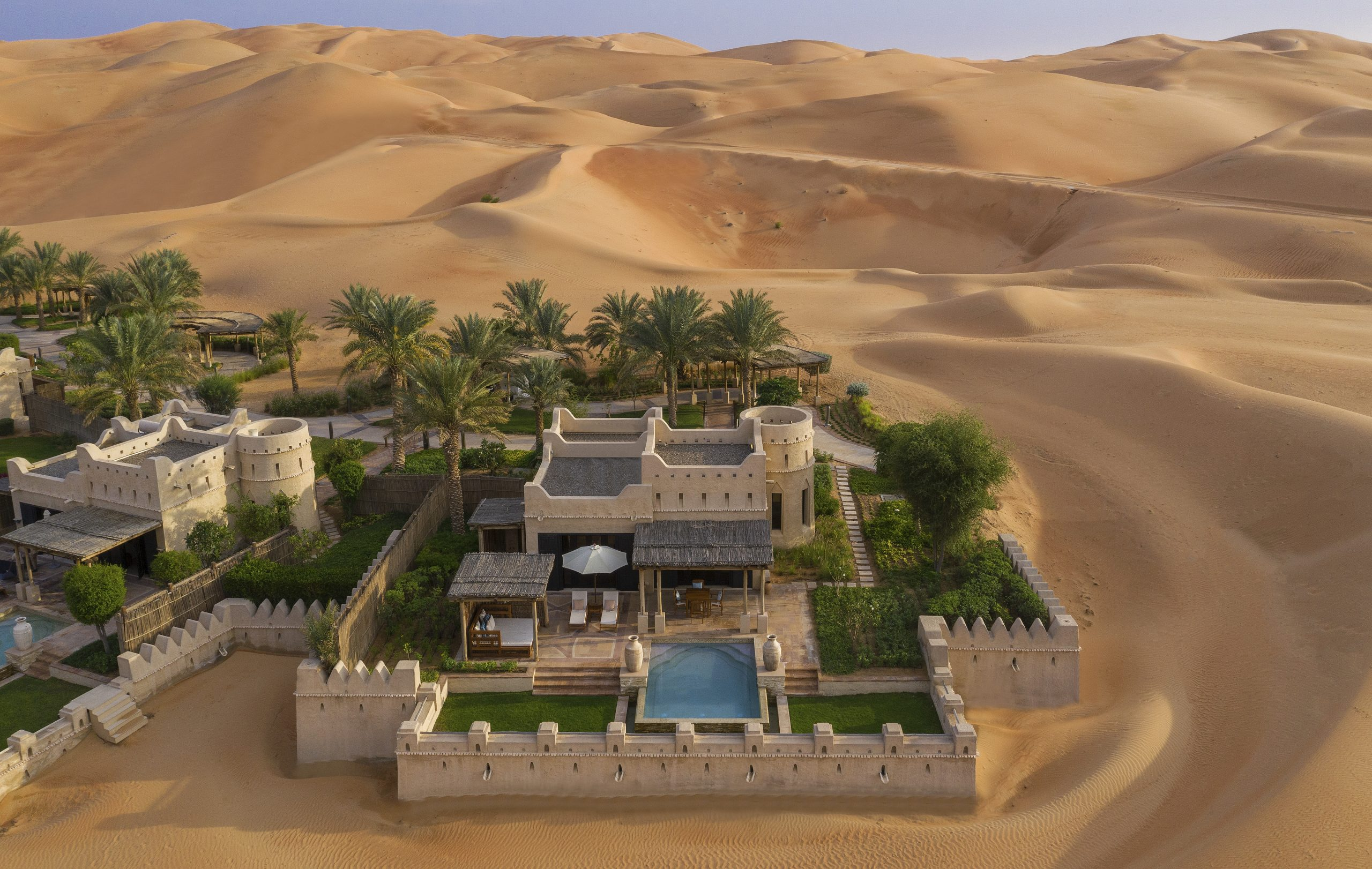 Royal Pavilion Desert Retreat_aerial